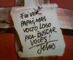 Continuaremos contando os segundos pra Te encontrar Jesus Lindooooooo!!!