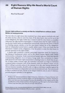 〈為什麼我們需要一個世界人權法院的八個理由〉