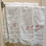 Vintage French Monogrammed Hand Towels