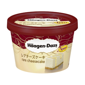 Japanese Haagen Daz rare cheescake ice cream for valentines day tub