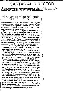 """""""El Nuevo Camino de Ronda"""" (IDEAL 01.10.2014)"""