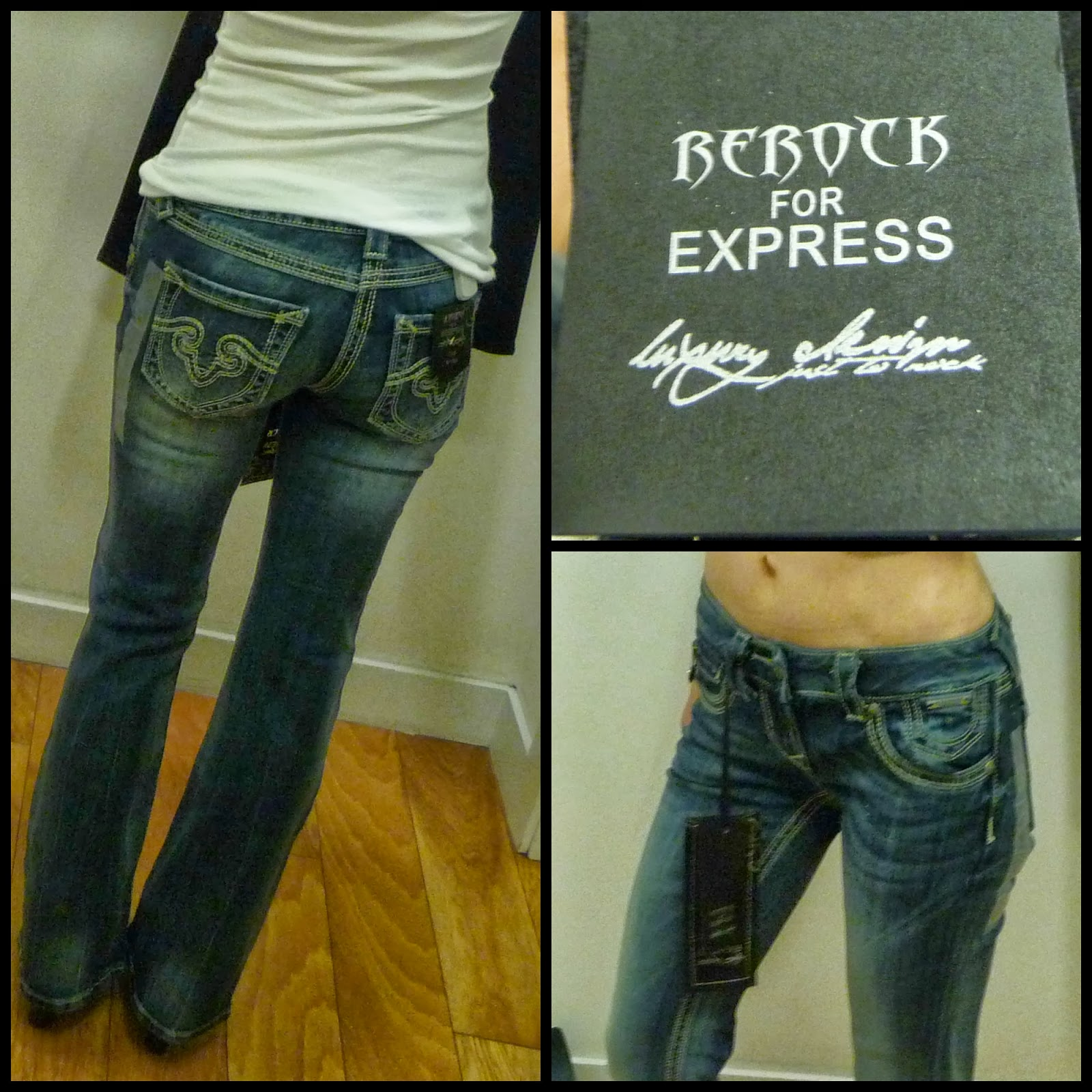 Express ReRock jeans, denim