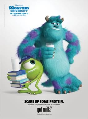 #MonstersU Got Milk? Poster