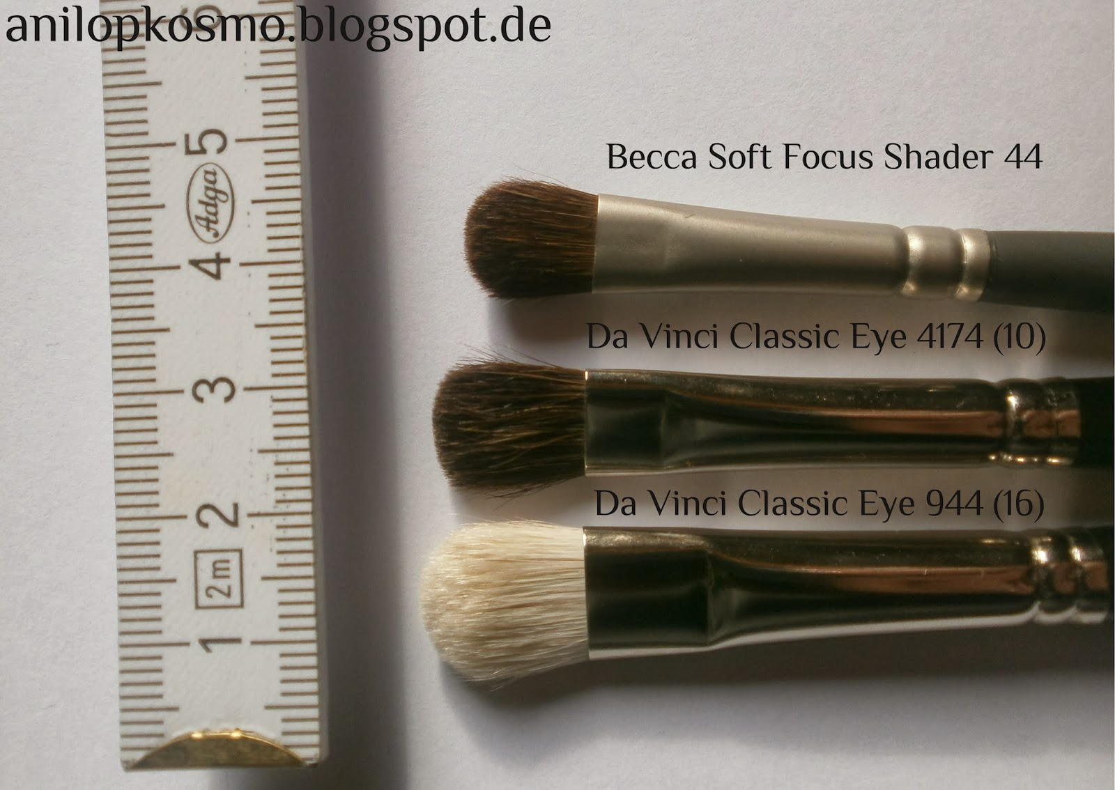 Da Vinci, Becca brush, review, swatches