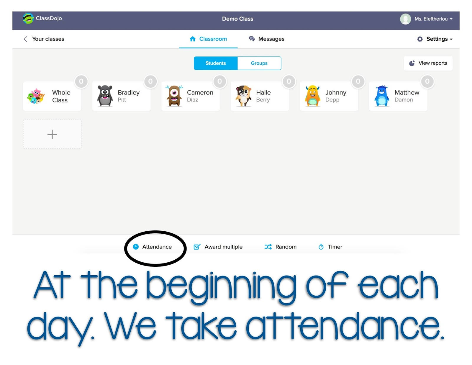 how to make a classdojo for students