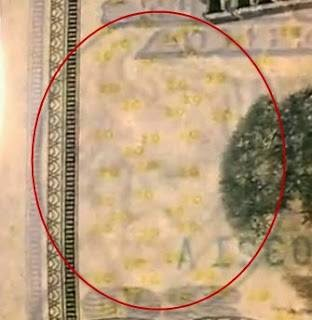"Mystery Face of George Bush ""horned"" On the Money 20 Dollar;"