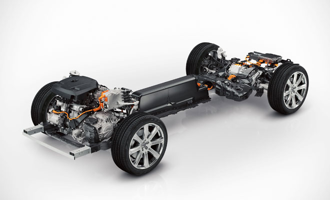 Volvo XC90 Twin Engine layout