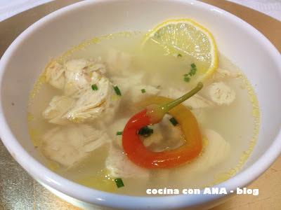 Cocina con ana sopa thai de pollo dieta dukan - Ana cocina facil ...