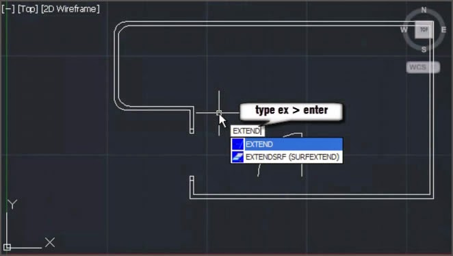 AutoCAD Extend Command