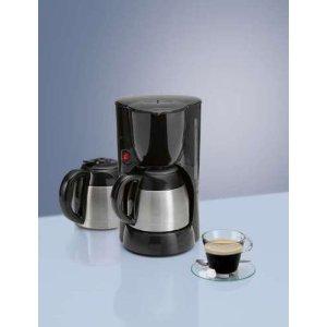 8-10 Tassen, Kaffeemaschine mit 2 doppelwandige Thermokanne Nachtropfsicherung