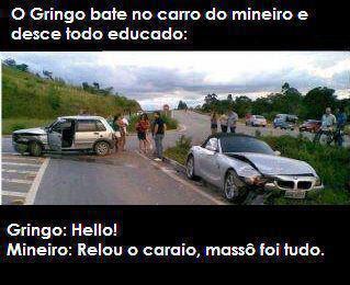 Mensagens para Facebook e imagens engraçada para facebook, batida de carro Mineiro