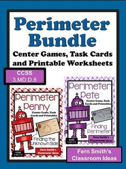 Fern Smith's Classroom Ideas Perimeter Mega Math Pack - Discounted Bundle For 3.MD.D.8