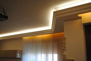 la luce indiretta o diffusa realizziamola con una cornice in gesso e delle strisce led sun. Black Bedroom Furniture Sets. Home Design Ideas