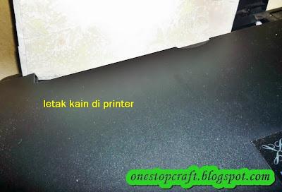 lapisan diletakkan di printer