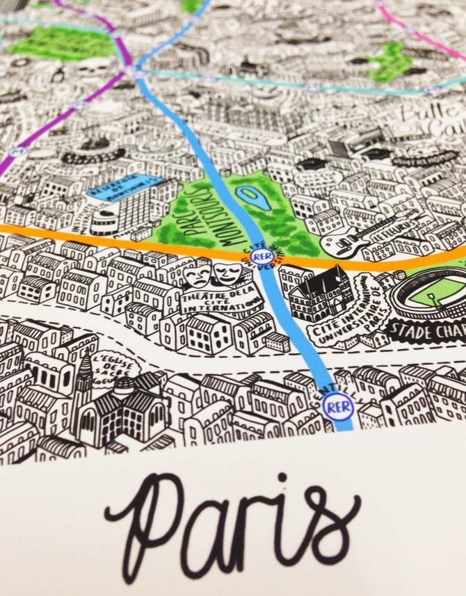 jenni sparks hand drawn paris