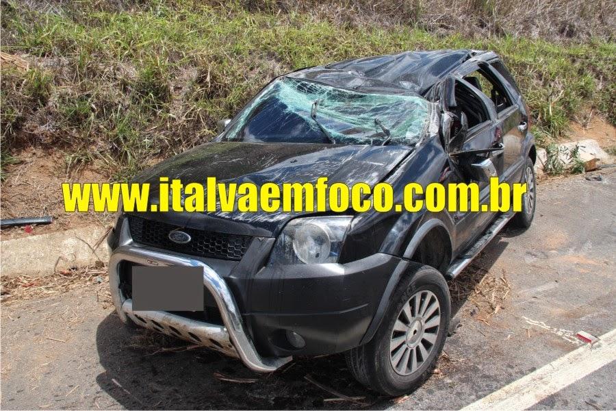 JOVEM DE ITALVA CAPOTA CARRO NA BR 356