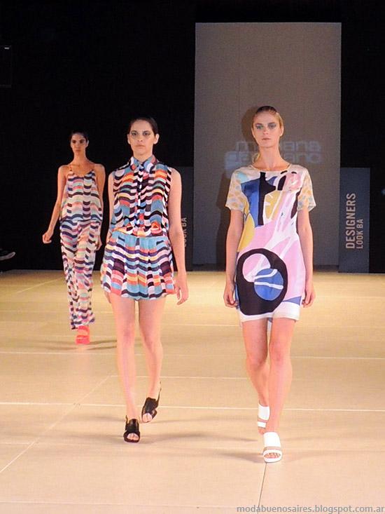 Mariana Dappiano primavera verano 2015. Moda primavera verano 2015 estampas y colores de moda.