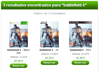 Precio de reservar Battlefield 4 en Zavvi.es
