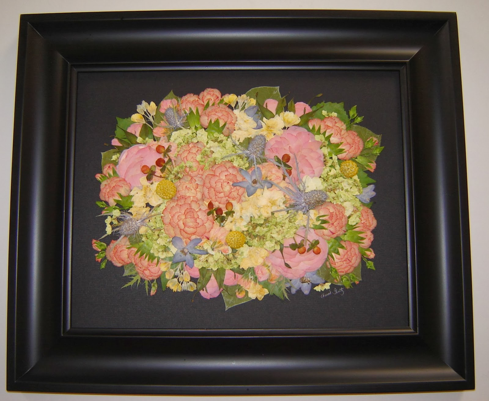 Pressed Garden: Kelsey\'s Bridal Bouquet ~ Fresh Colors and Textures!