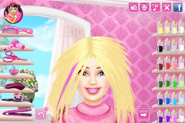 Barbie Hairstyle Games 2014
