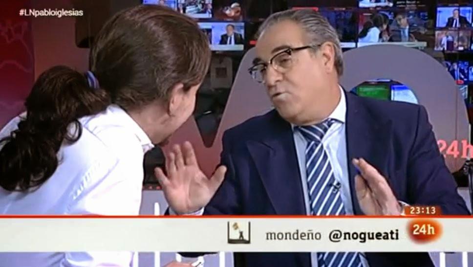 Pablo Iglesias en TVE, La noche en 24