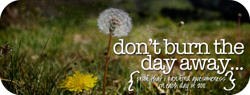 Don't burn the day away...