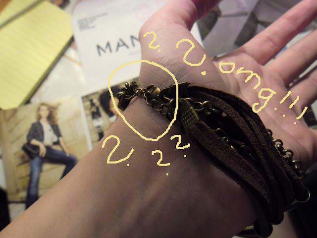 D.I.Y. necklace from bracelet