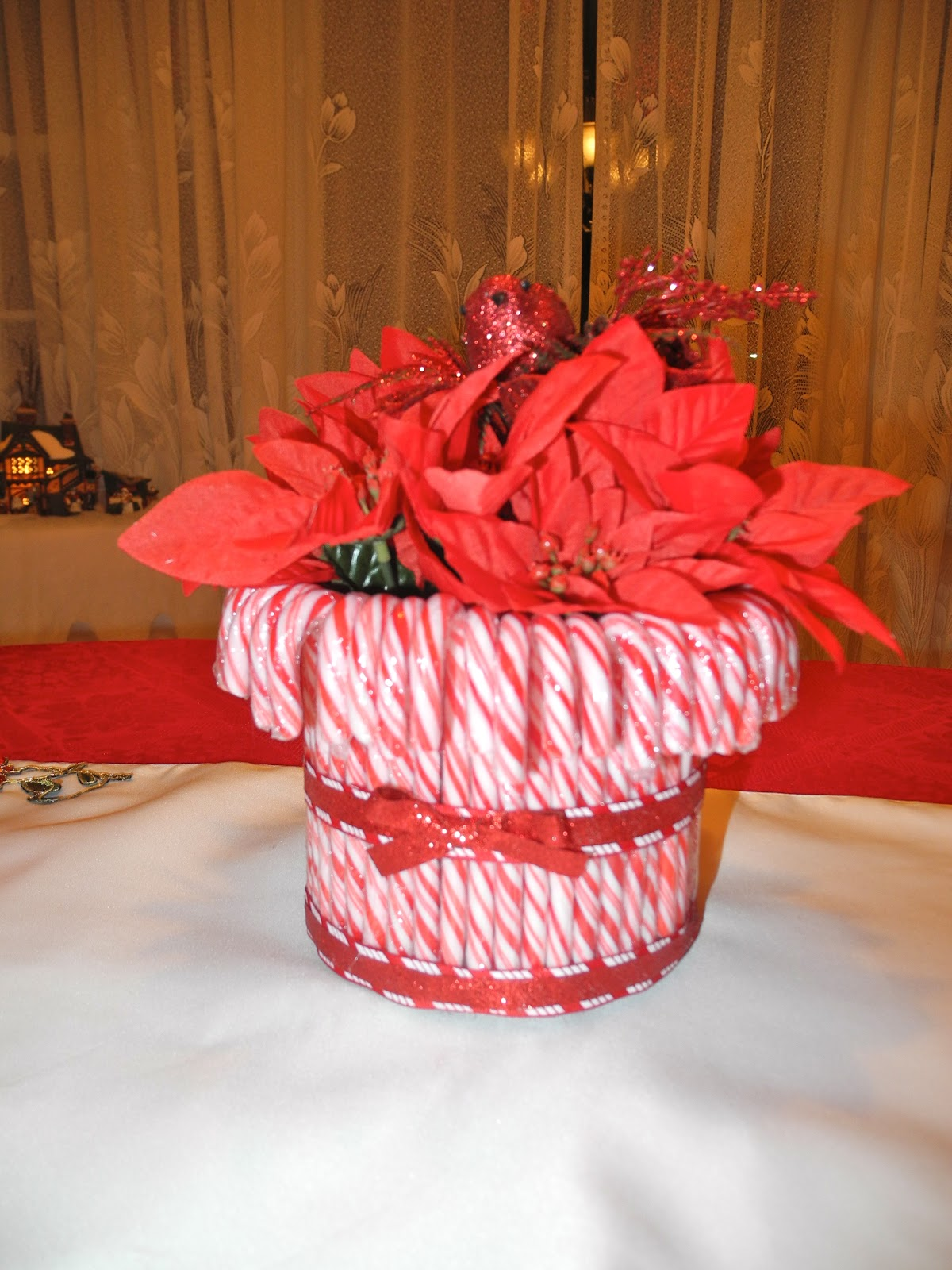 Candy cane centerpiece making memories
