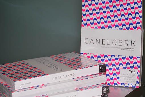 Revista Canelobre num. 65: Imagen, diseño y comunicación en Alicante. Disponible en Libreria Cilsa de Alicante.