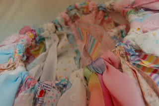 close-up scrap fabric tutu