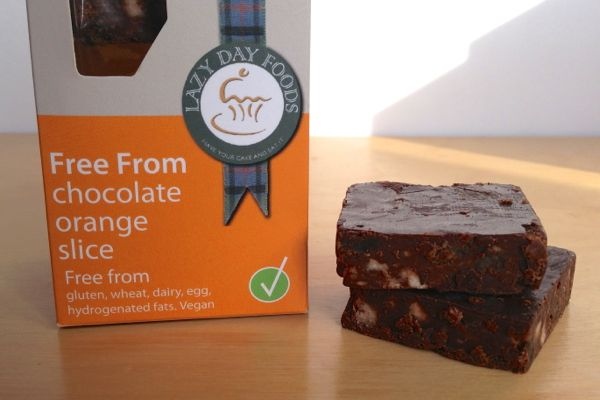 Lazy Days Free-From Tray-Bakes vegan chocolate orange tiffin