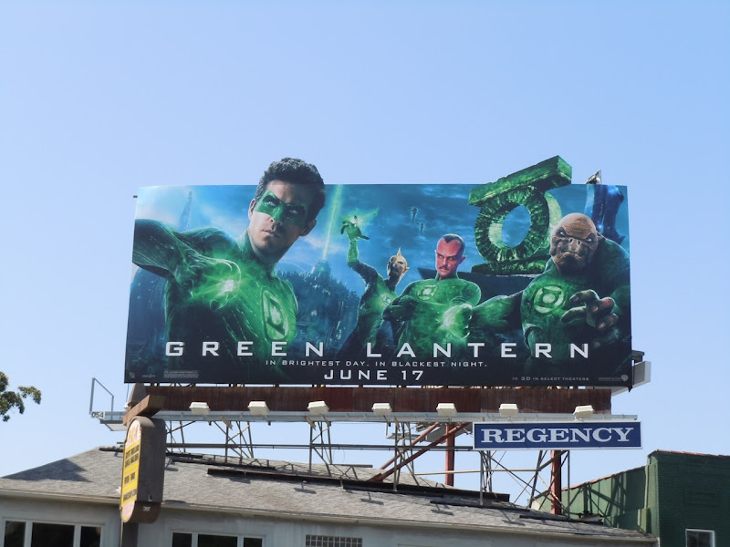 Green Lantern billboard