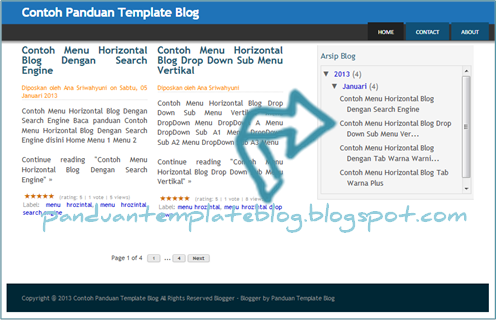 Cara Memasang Kode Scroll Kolom Widget Blogspot