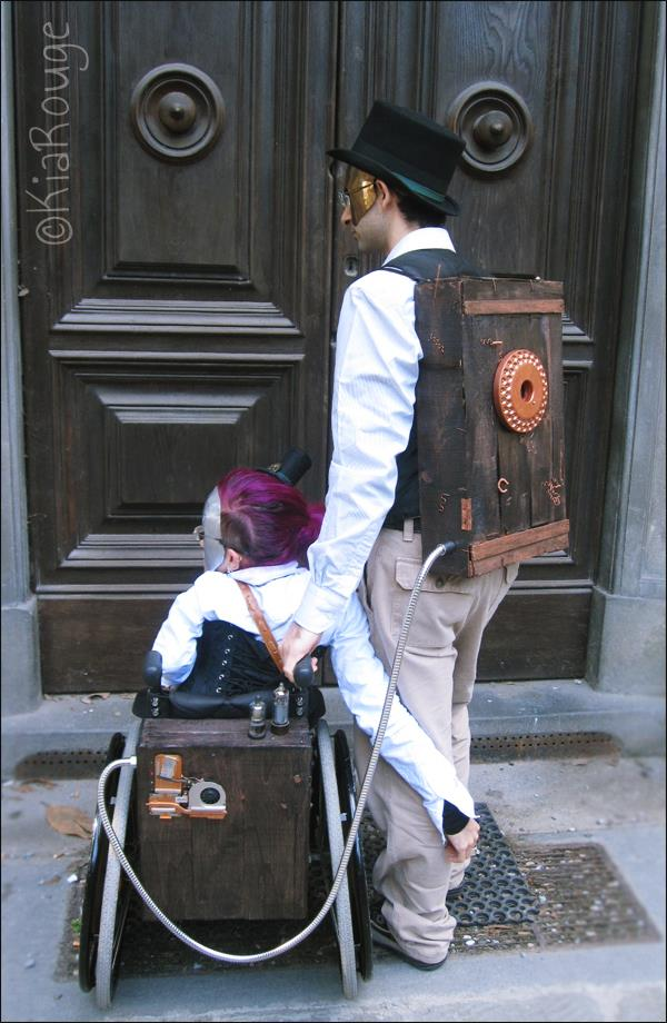 Steampunk wheelchair