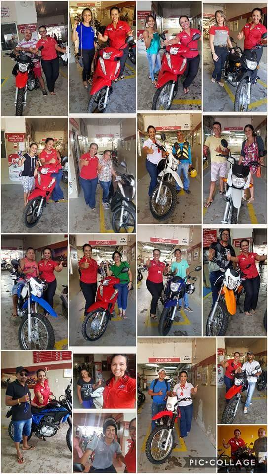 Elianete vendedora de moto honda