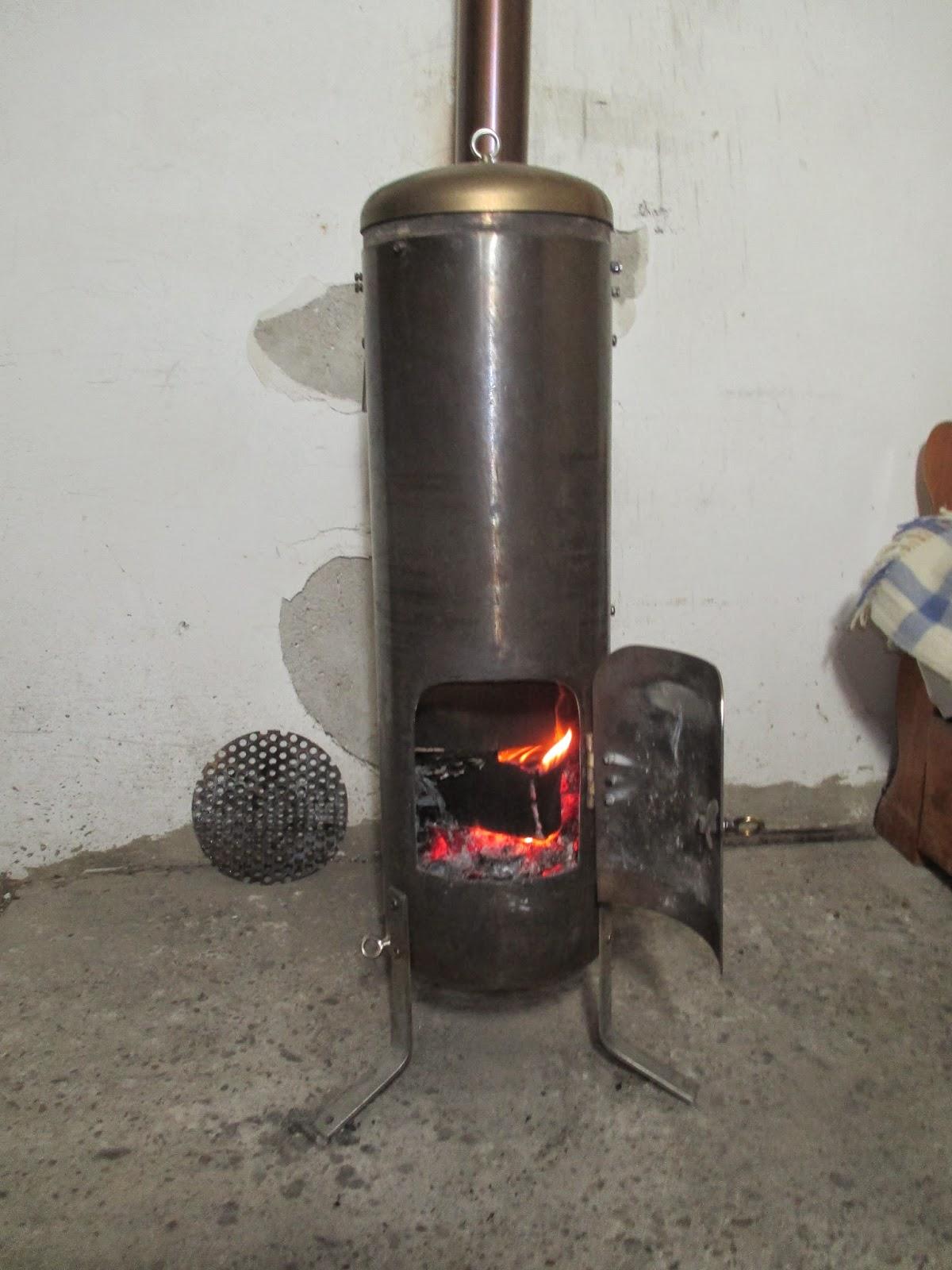 Calor por un tubo estufas de le a - Estufa de calor ...