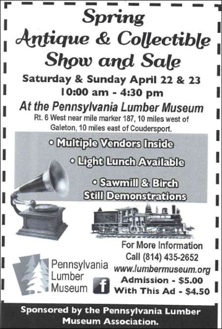 4-23 Antique & Collectible Show & Sale