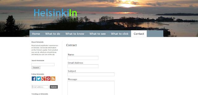 HelsinkiIn contact form