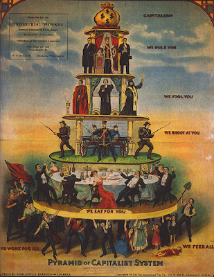 The Pyramid of the Capitalist System - from The Industrial Worker, 1911 - public domain, via Wikimedia Commons