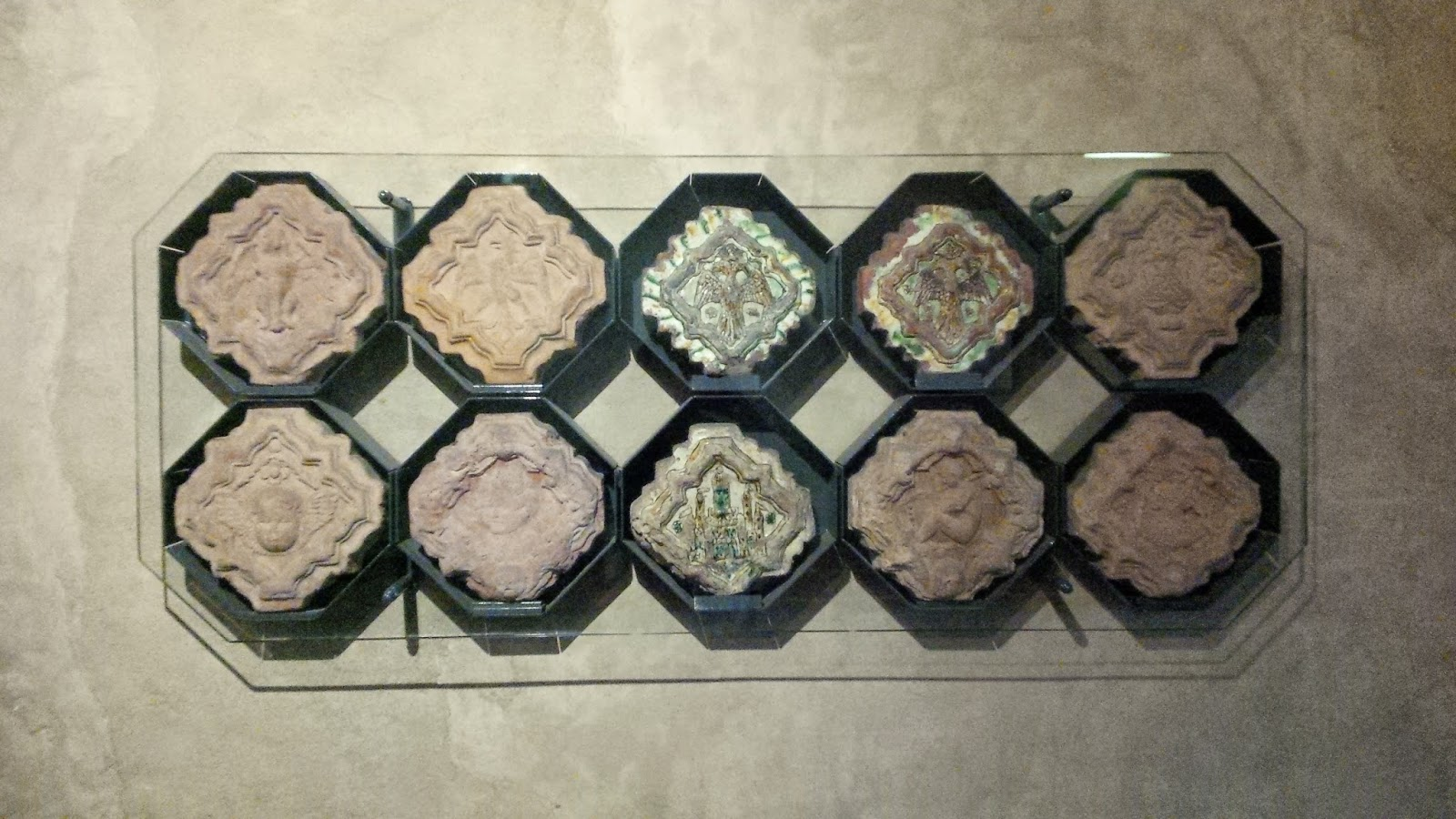 Terracotta tiles from the second half of the 15th century on the wall in Juliet's House