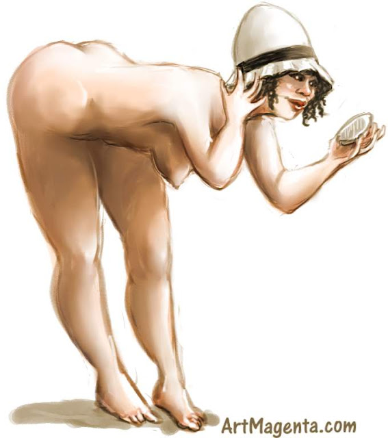 A hat is a part of your identity is a figure drawing by artist and illustrator Artmagenta