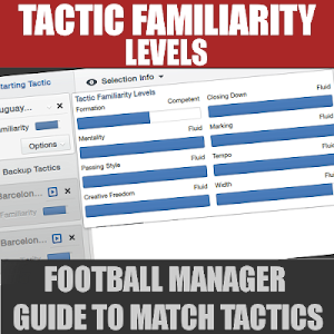 Football Manager Tactic Familiarity levels