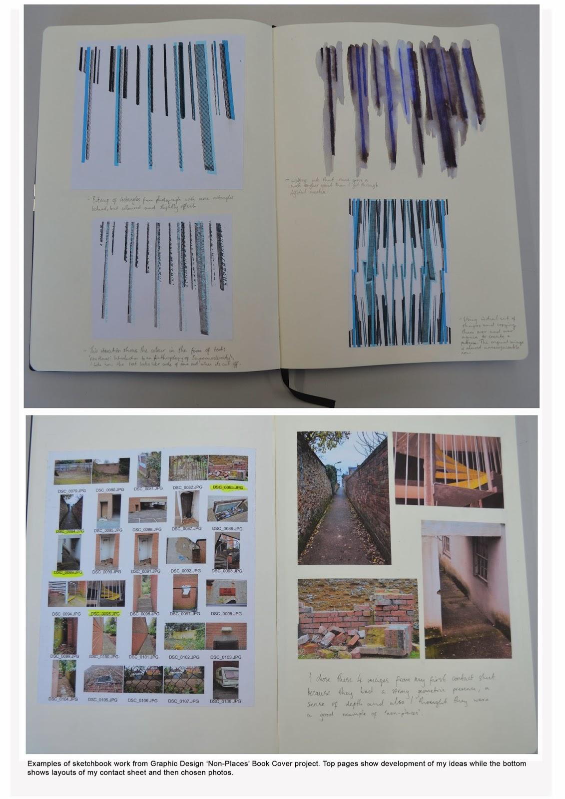 Book Cover Graphic Design Project : Graphic design non place book cover