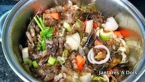 Ingredientes para o caldo de camarão