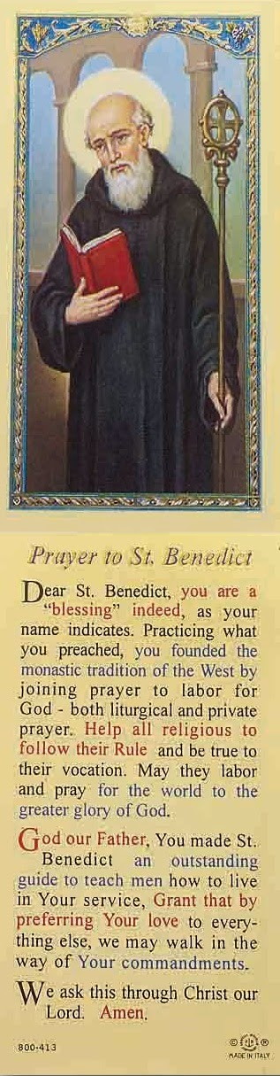 Prayer to St Benedict