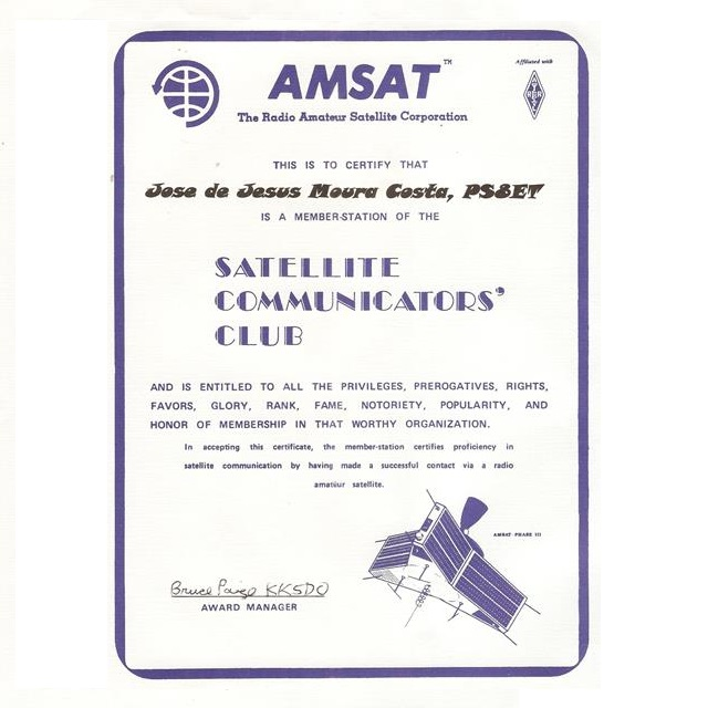 Certify Member - Satellite Communicators Club