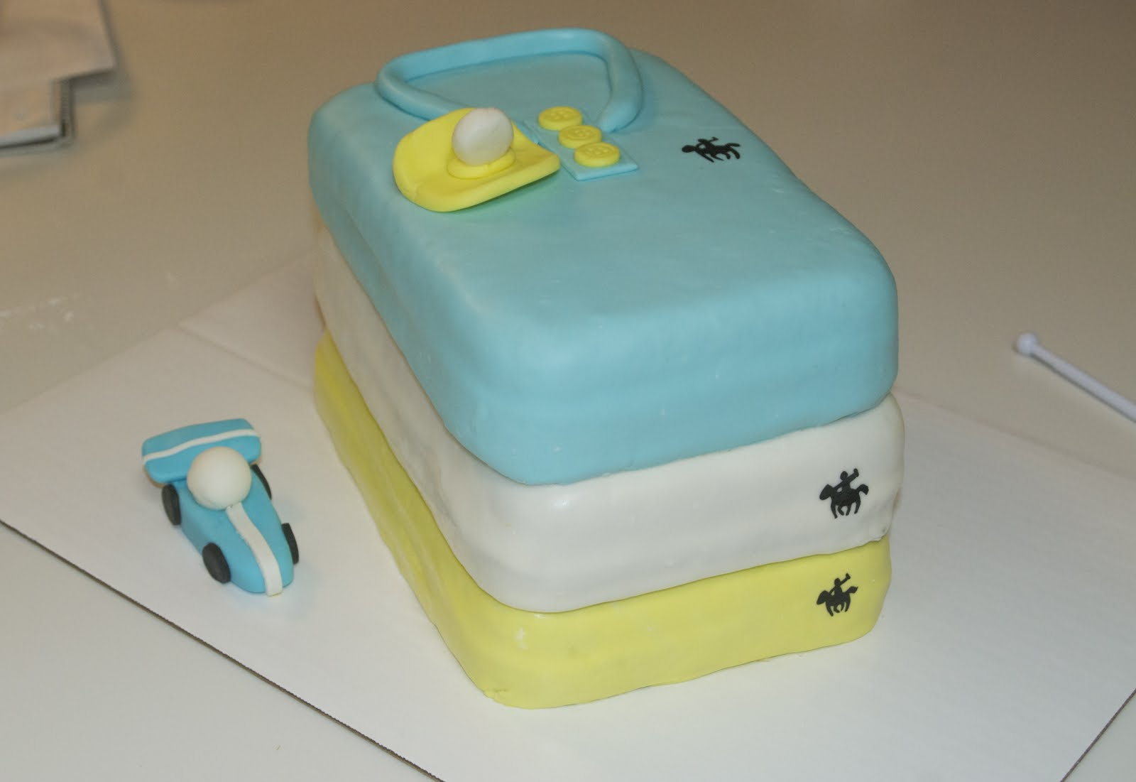 Polo Baby Shower Cake With 30 Cupcakes