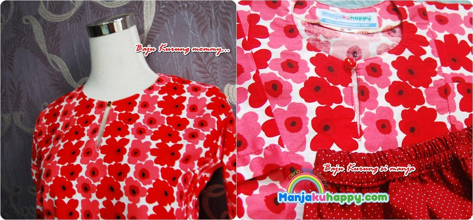 Baju Sedondon ibu dan anak -Merah