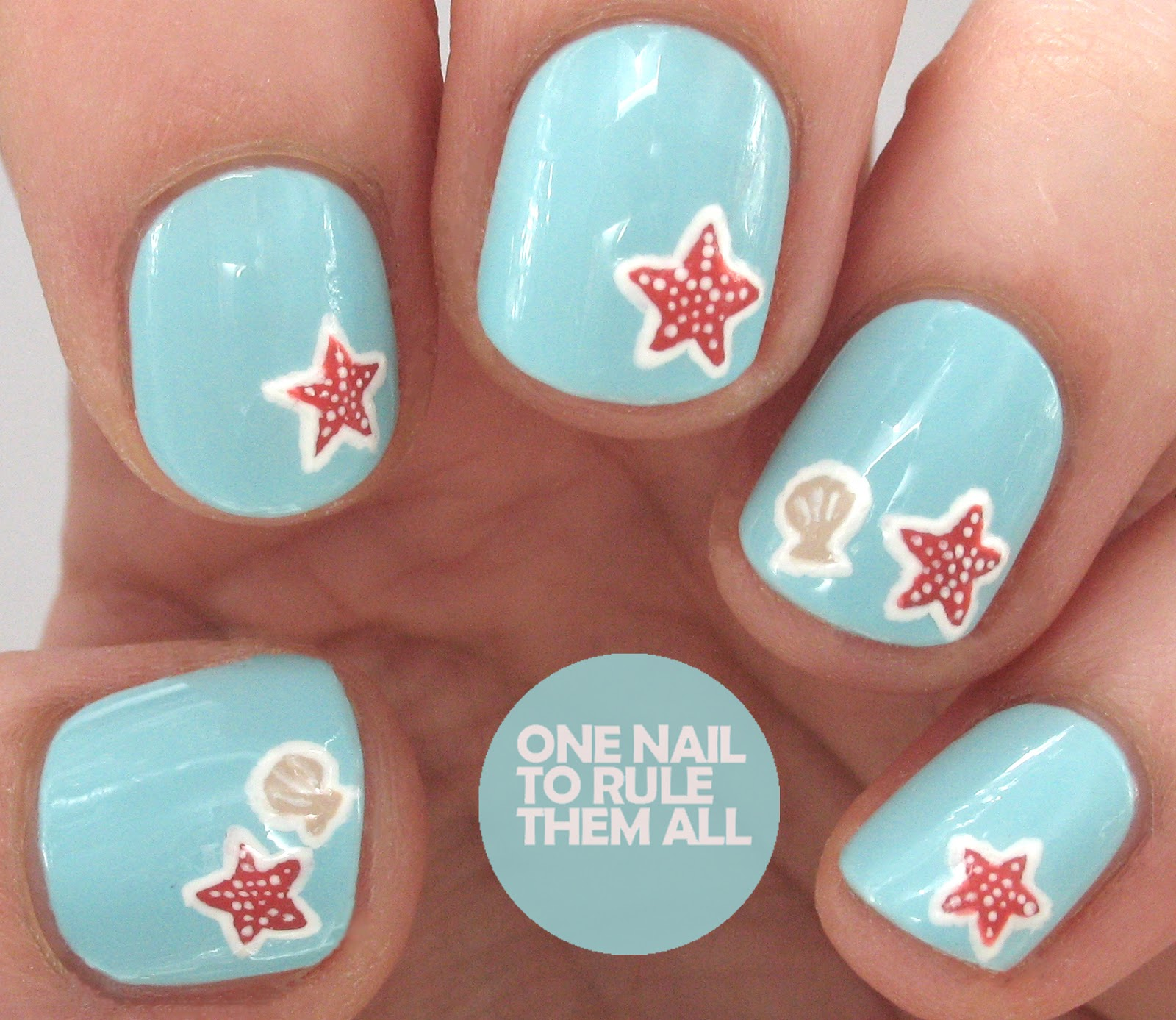 One Nail To Rule Them All Tutorial Tuesday Starfish Nail Art For