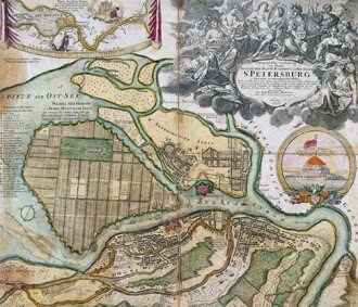 Map_of_Saint-Petersburg_in_1720_(Homann)